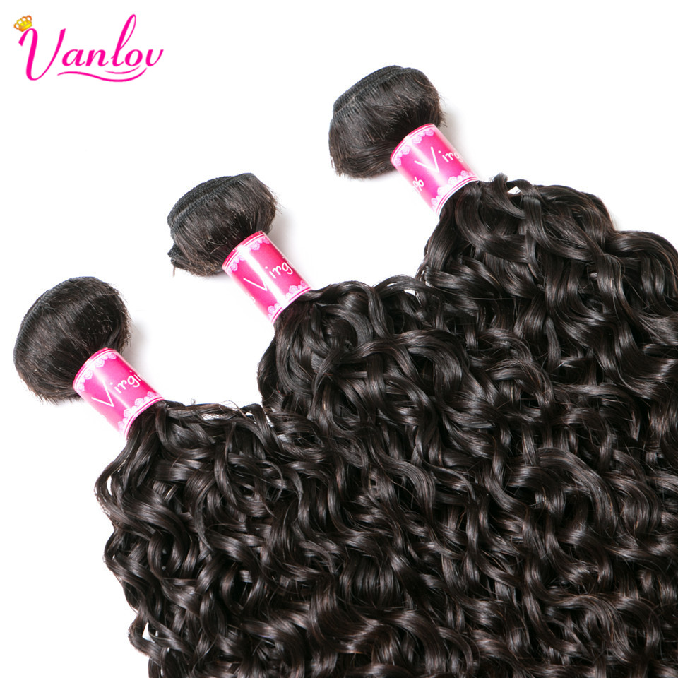 HTB1Kvm0puuSBuNjSsplq6ze8pXaw Vanlov Human Hair Bundles With Frontal Brazilian Water Wave With Closure Frontal With Bundles #1B #1 #613 More Expensive Remy