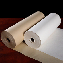 купить 100m Scroll Papel Arroz Semi-Raw Calligraphy Paper for Calligraphy Writing Chinese Raw Xuan Paper Chinese Painting Rice Paper дешево