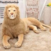 stuffed toy huge 130cm prone lion plush toy simulation lion home decoration birthday gift w2967