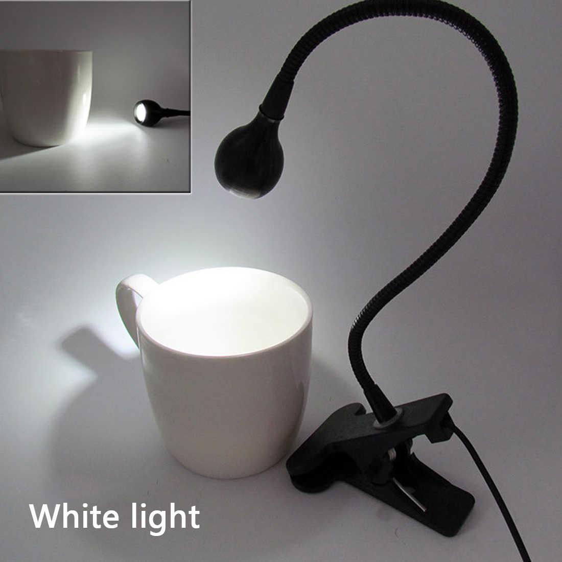 3 Вт USB гибкий светодиодный светильник для чтения с зажимом, прикрепляемый к кровати, настольная лампа, книжный светильник, подарок для студентов