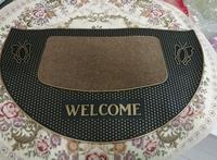 New Arrival Welcome Doormat Size 45x75cm Polypropylene Semi circle PVC Outdoor Carpet Kitchen Mat Bath Rugs Mats Home Decorate