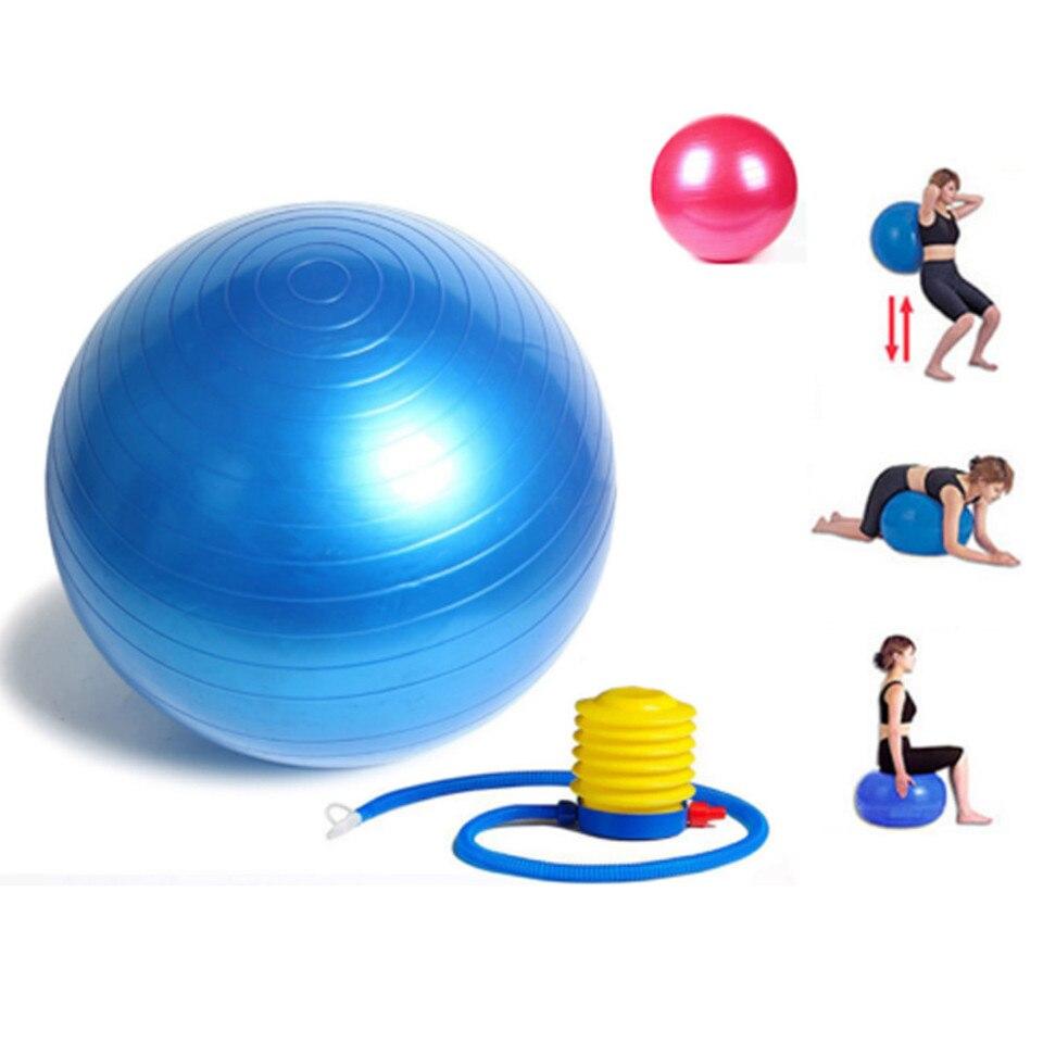 New Sports 65cm Exercise Gym Yoga Swiss Ball Fitness Pregnancy Birthing Anti Burst Pump Exercise Pilates Workout Massage Ball Yoga Balls Aliexpress