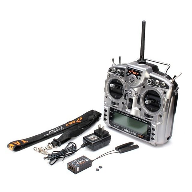 New FrSky Taranis X9D Plus 2.4G ACCST Transmitter With X8R Receiver selection For RC Multicopter Part Racing drone 4