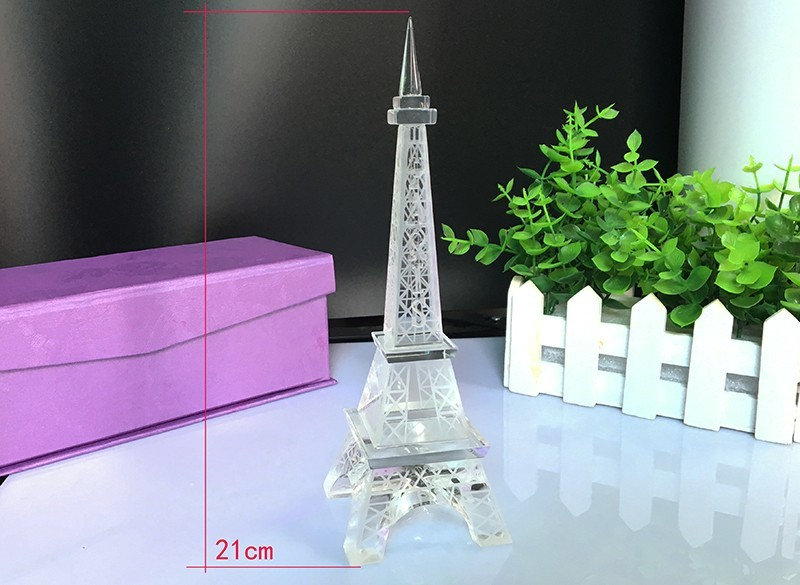 Popular New Home Decor Crystal Glass Eiffel Tower Model Art Crafts - Home Decor - Photo 5