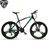 LAUXJACK Mountain Bike Steel Frame 24 Speed Shimano Mechanic Brake 26 Alloy Wheel