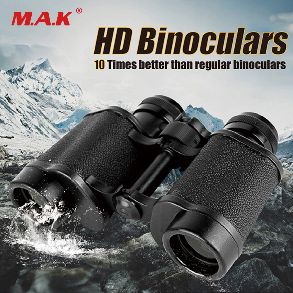 8X30 HD Binoculars Telescope Wide-angle Central Zoom Military Metal High-definition Binoculars Prism Zoom Lens for Hunting 8x zoom telescope lens back case for samsung i9100 black