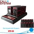 Sistema de paginação sem fio / restaurante chamada / e montanha pager sem fio ( 1 teclado com 30 receptores )