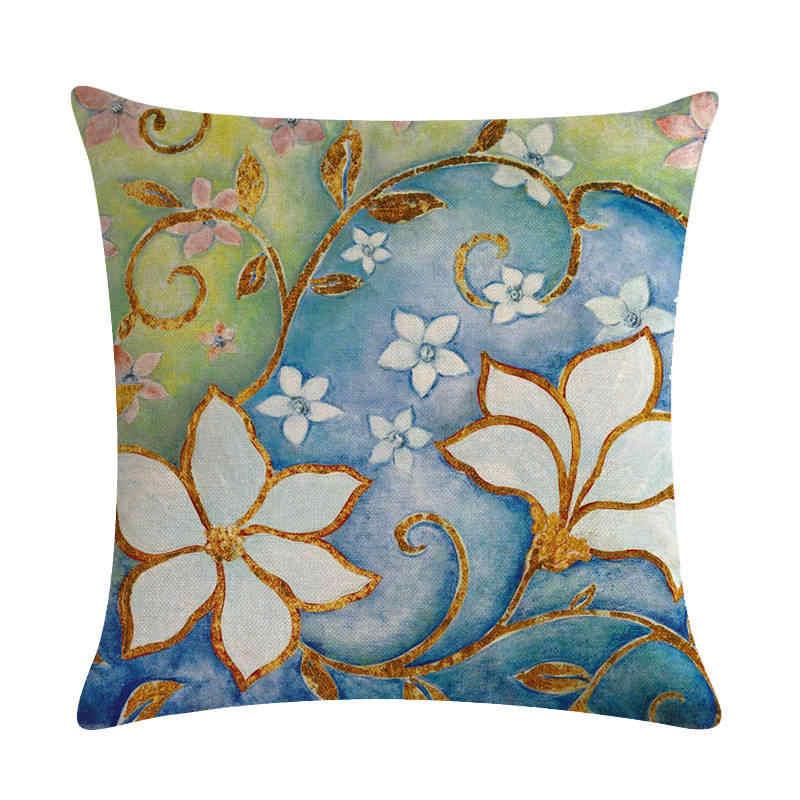 45 cm * 45 cm Antike jacquard muster muster leinen/baumwolle werfen kissen deckt couch kissen abdeckung home dekorative kissen