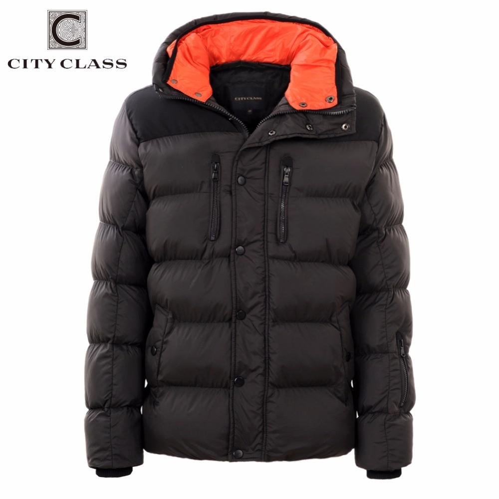 CITY CLASS 2019 แฟชั่นฤดูหนาวใหม่แจ็คเก็ตหนาเสื้อกันหนาวลำลองฝ้าย Hooded ชาย Outerwear จัดส่งฟรี 2678-ใน เสื้อกันลม จาก เสื้อผ้าผู้ชาย บน   2