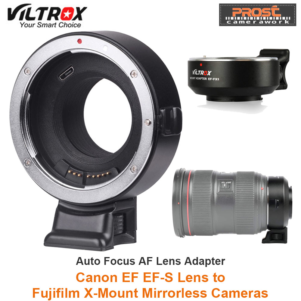 US $172 0 |VILTROX EF FX1 Auto Focus Lens Mount Adapter for Canon EF/EF S  Lens to Fuji X Mount Mirrorless X T1 X T2 X T10 X T20 X A1 Camera-in Lens