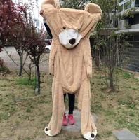 1 unid 100 cm americano oso gigante casco, oso de peluche de alta calidad bajo precio popular regalos de cumpleaños para Niñas, juguete del cabrito