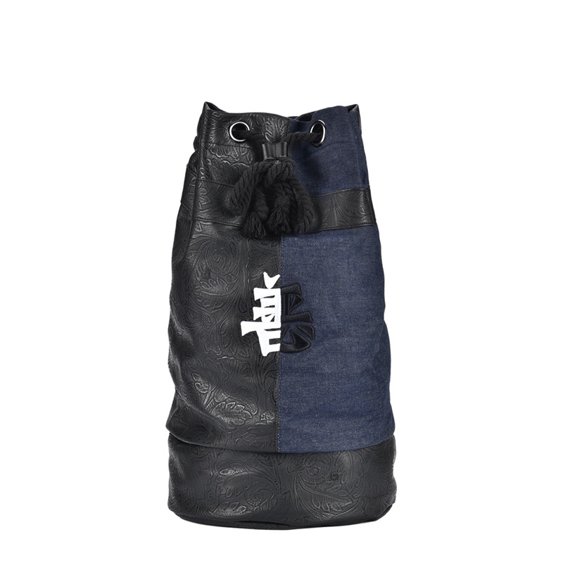 Laptop Bagpack Chinese Embroidery Drawstring Male Waterproof Fashion Men for Daily Design