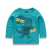 Poipoico Kids 2-10 Years Boys T-shirt Kids Tees Baby Boy T shirts shirt Children Long Sleeve t shirt 100% Cotton Top&Tee