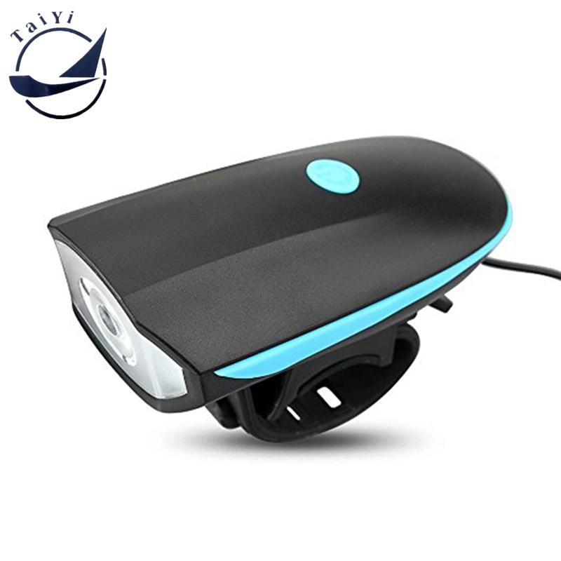 TAIYI USB-elektrisignaal tugeva valgustusega Kiire vabastusega jalgrattasõit esilaterna Horn ohutu jalgratta jalgratta esilatern