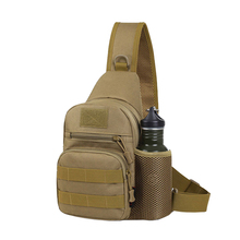 Small Military Crossbody Chest Bag Men Kettle Camouflage Travel Waterproof Oxford Cloth Camping
