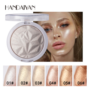 6 Color Highlighter Facial Bronzers Palette Makeup Glow Face Contour Shimmer Powder Illuminator Highlight Cosmetics TSLM2(China)