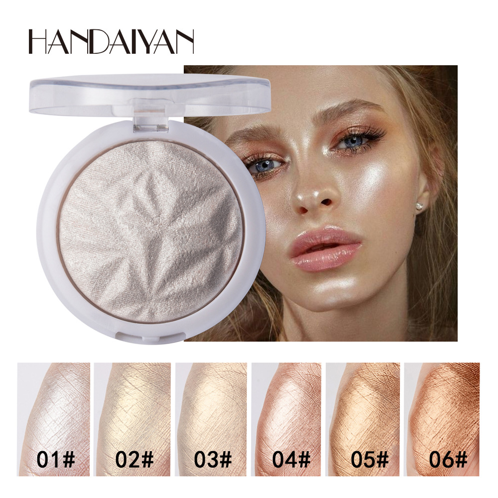 6 Color Highlighter Facial Bronzers Palette Makeup Glow Face Contour Shimmer Powder Illuminator Highlight Cosmetics TSLM2 image