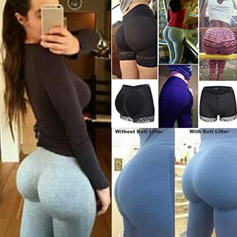 New Womens Butt And Hip Enhancer Booty Padded Underwear Panties Body Shaper Seamless Butt Lifter Panty Boyshorts Shapewear