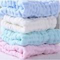 Hot Baby Bib Towel 2pcs/Set 6 layer Gauze Solid Baby Wipe Sweat Absorbing 100%Cotton Soft NewBorn Handkerchief 28*28cm