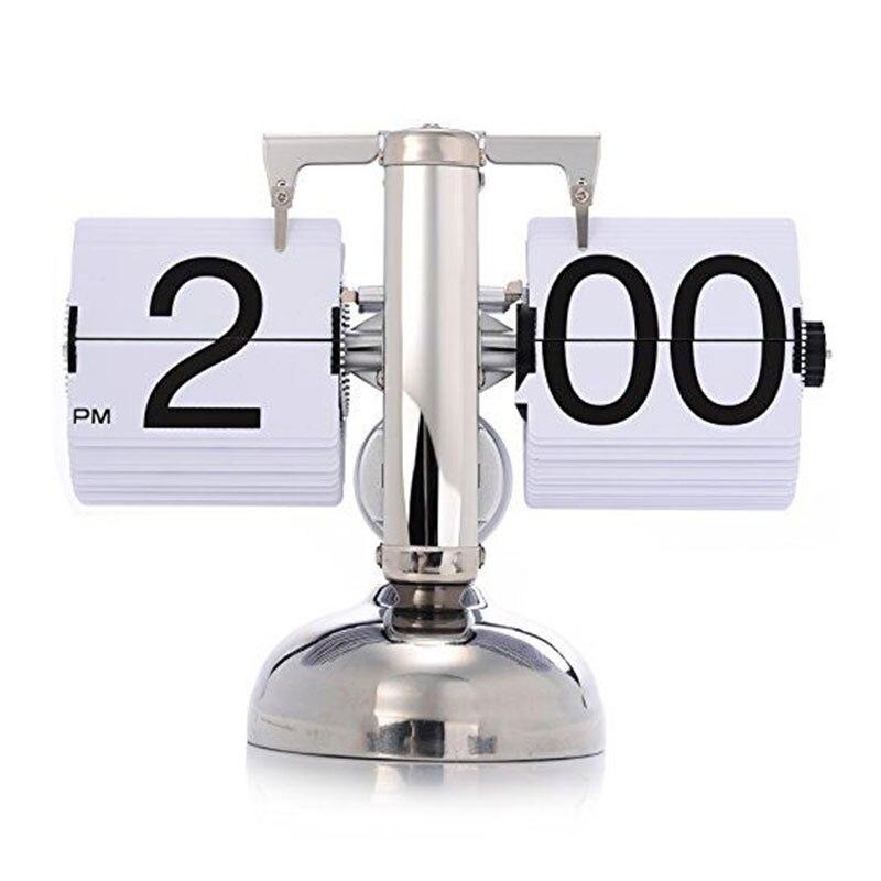 Balance rétro balance moderne numérique Auto Flip simple support bureau Table horloge blanc