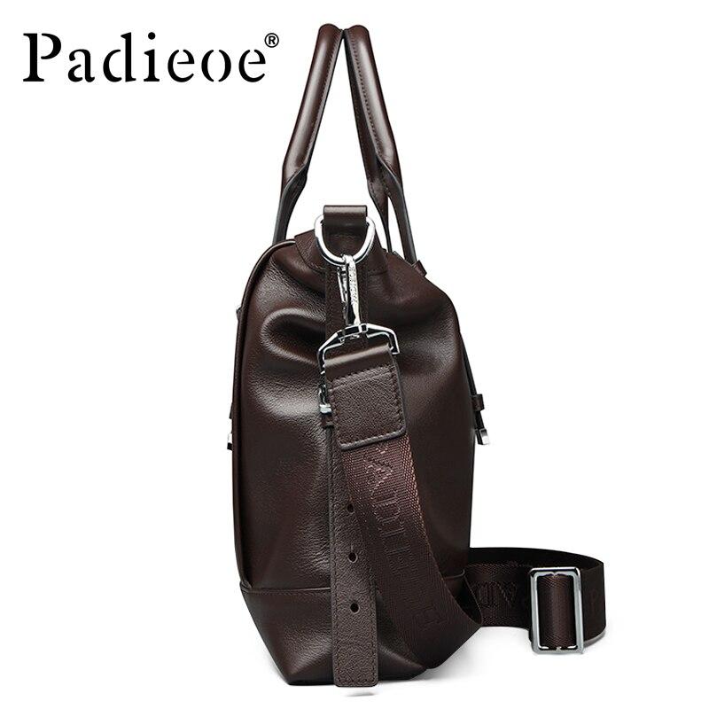 Schulter Crossbody Casual Echtem Aktentasche Laptop Tasche 14 Männer Handtasche Business Zoll Leder Padieoe100 Brown vqPZZ