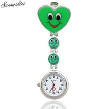 Ho Coronary heart Form Quartz Motion Nurse Brooch Fob Tunic Pocket Watches wholesale v