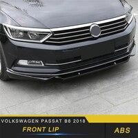For Volkswagen Passat B8 2018 Car Styling Car Front Lip Chin Bumper Body Kits Deflector Spoiler Splitter Diffuser
