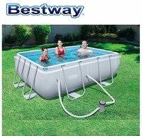 282x196x84 см Bestway 56629 Мощность Сталь прямоугольная рамка бассейн с фильтром на открытом воздухе над землей кадр бассейн для всей Семья