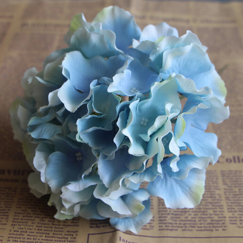 Artificial Hydrangea Flowers Head For Wedding Decor silk Flower wall     Artificial Hydrangea Flowers Head For Wedding Decor silk Flower wall stage  decoration diy floral headwreath bouquet bridal balls in Artificial   Dried