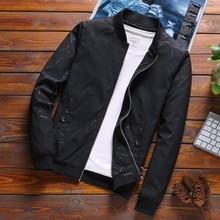 New 2019 Spring Autumn Casual Jacket Men Outerwear Stand Collar Sportswear Clothing M-4XL