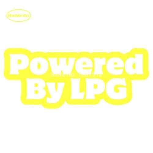 HotMeiNi مدعوم من LPG معطر للسيارة الجديدة ملصقا لشاحنة نافذة الوفير السيارات SUV الباب ملصق حائط من الفينيل مقاوم للماء 13 ألوان 20*8 سنتيمتر