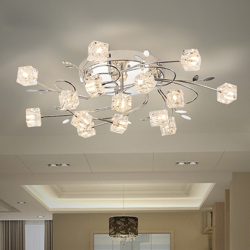 crystal ceiling light FREE SHIPPING ceiling light with the remote control lamps and lanterns of generation is contracted zcl