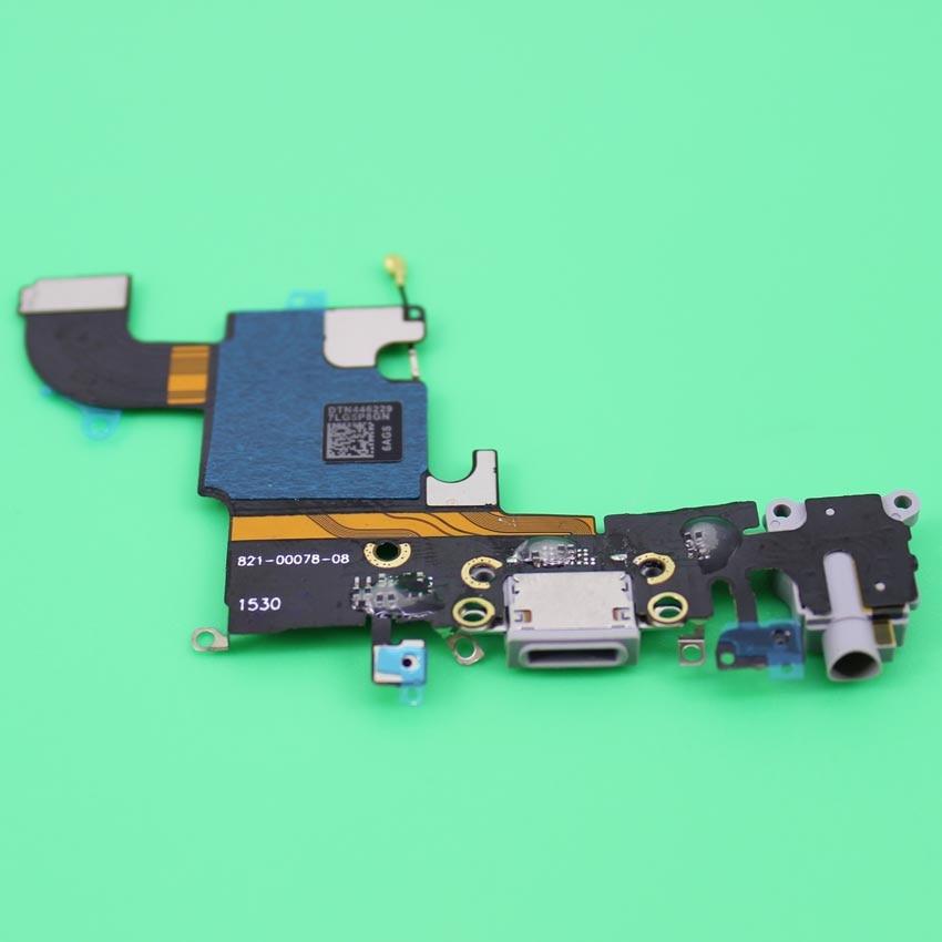 imágenes para 10 unids/lote Nuevo Cargador de Puerto de Carga USB Conector Dock Cable Flexible Para el iphone 6 S con Toma de Auriculares de Micrófono Flex Cable de Cinta