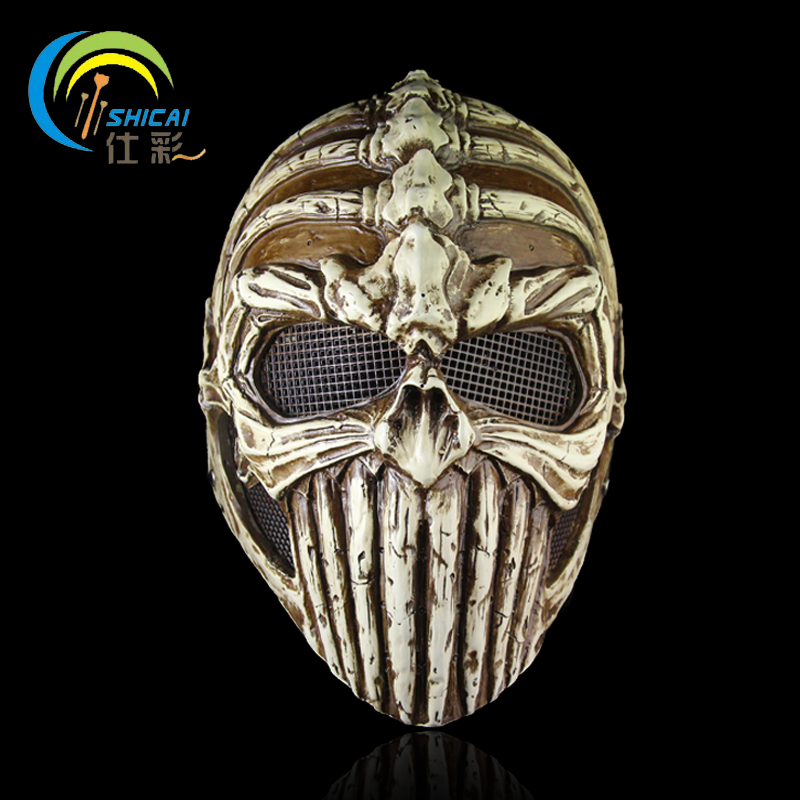 Skull mask protective mask horror thriller dance props wedding party decoration high grade resin mask Collector's Edition