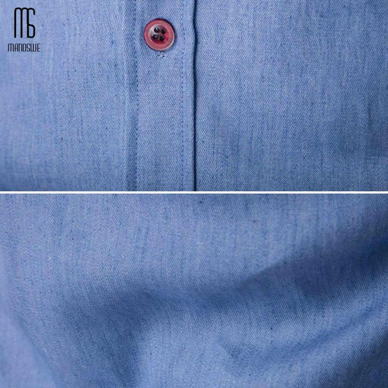 Manoswe 春秋 2019 ファッションメンズデニムシャツスリム男性のシャツ長袖カーディガンカジュアル服トップスジーンズ 3xl