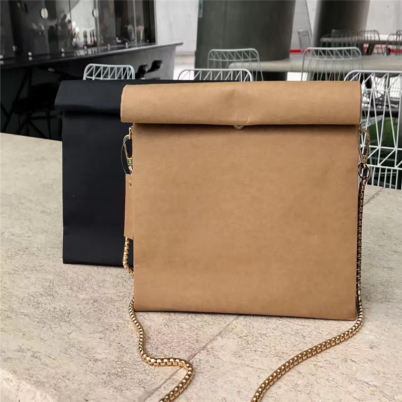 Lydian Washed Kraft Paper Bag Special Famous Designer Handbag Women Shoulder Fashion Chain Casual Day Clutch Custom Personalized