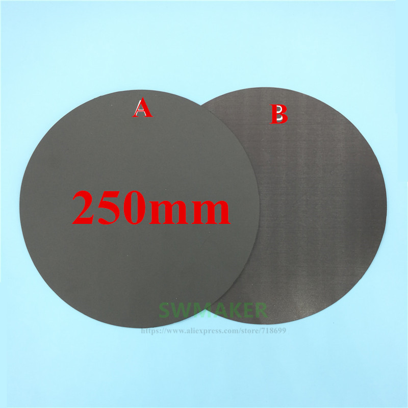 3d Printer Parts & Accessories 250mm Round Magnetic Adhesive Print Bed Tape Print Sticker Build Plate Tape Flexplate A+b For Diy Kossel/delta 3d Printer Parts Aesthetic Appearance