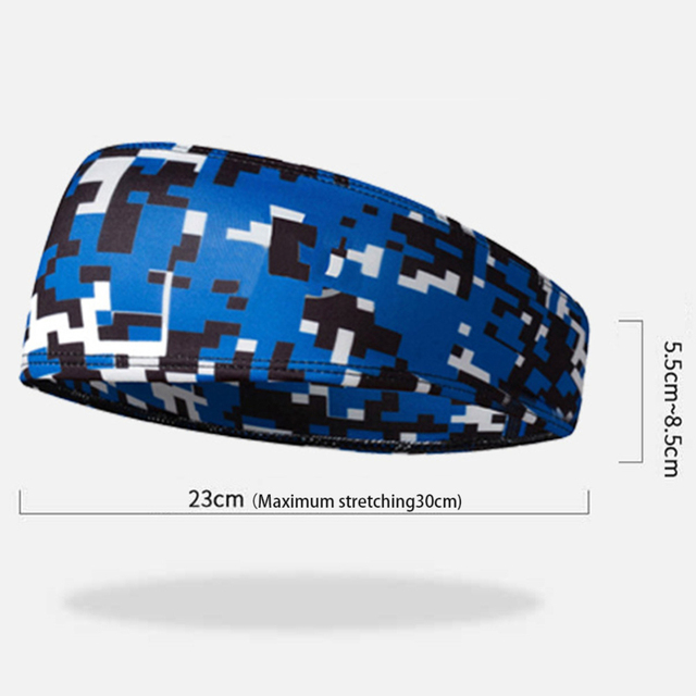 Men/Women Headband Multi-function Anti-sweat Belt Sports Sweat Head Band Hair Band Sweatband Tennis Basketball Yoga Headband 2