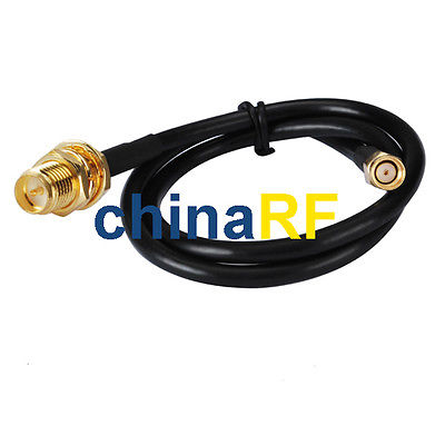 50cm 0.5M WiFi Antenna RP-SMA Extension Cable for Wi-Fi Router high quality