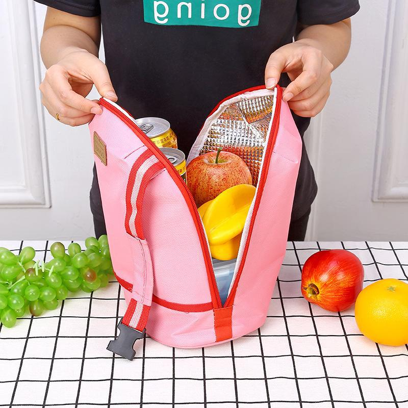 RUPUTIN Portable Cooler Tote Insulated Canvas Lunch Bag High Quality Thermal Storage Food Picnic Bento Lunch Box For Women Kids in Lunch Bags from Luggage Bags