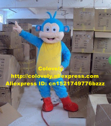 Costumes & Accessories 2019 Fashion Lively Blue Sock Monkey Mascot Costume Mascotte Little Monkey With Big Red Mouth White Sock Hands Adult No.1887 Free Shipping Mascot