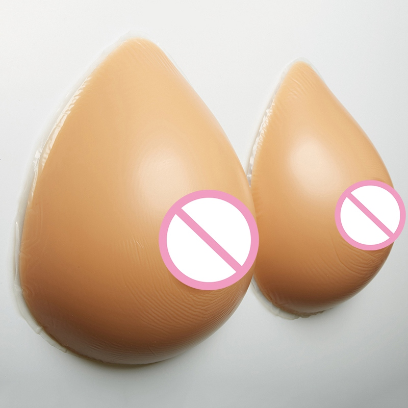 free shipping artificial silicone breast forms for cross dressing deep cleavage fake bra male transgender 3600g pair beige color 1400g/pair Crossdressers Silicone Breast Forms Transgender Shemale Fake Boob Ehhancer Drag Queen Artificial Fake Breast