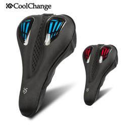 Coolchange седло велосипеда воздухопроницаемая комфортная обувь подушки жидкий силикон гели Велоспорт седло полый велосипед мягкие сиденья