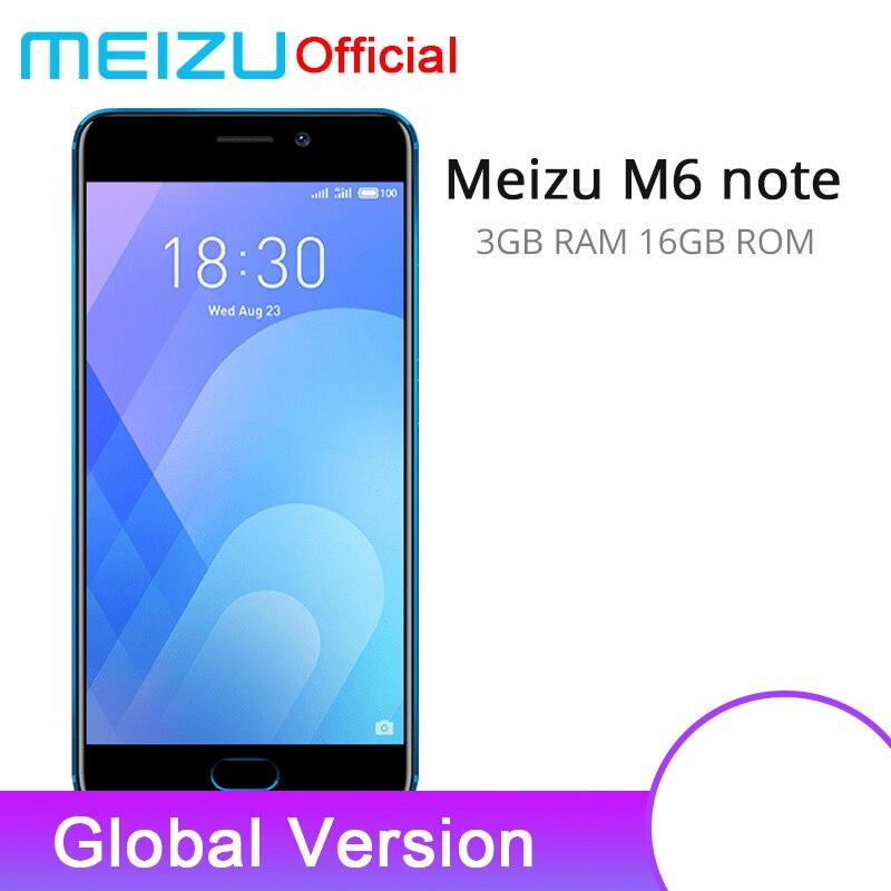 "Official Global Version Meizu M6 Note 3gb 16gb Cellphone 4g Lte Snapdragon 625 Octa Core 5.5"" 1920x1080p 4000mah Fingerprint Id"