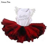 Tutu Baby Newborn Clothing Sets Girl Cotton Lace Bodysuit Tutu Skirt Set 2PCS Outfits Birthday Party