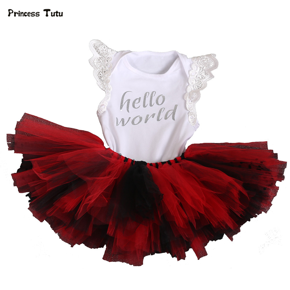 Tutu Baby Newborn Clothing Sets Girl Cotton Lace Bodysuit+Tutu Skirt Set 2PCS Outfits Birthday Party Infant Baby Girl Clothes crown princess 1 year girl birthday dress headband infant lace tutu set toddler party outfits vestido cotton baby girl clothes
