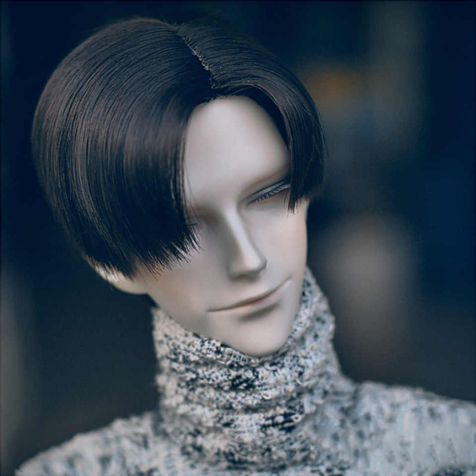 Allaosify BJD peluca 100% de alta calidad de fibra de alta temperatura de moda de pelo corto peluca SD tres colores para elegir de 1/3 1/4