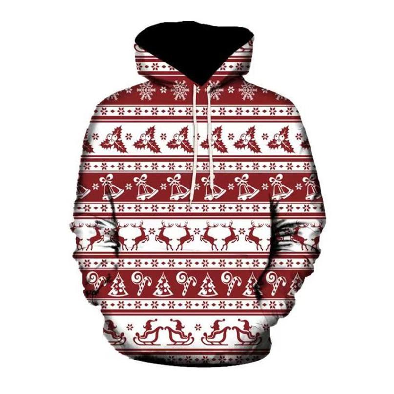 Christmas Couples Hoodies Women Man Running Jackets 3D Print Long Sleeve Winter Hoodies Top Blouse Shirts #2N20 (3)