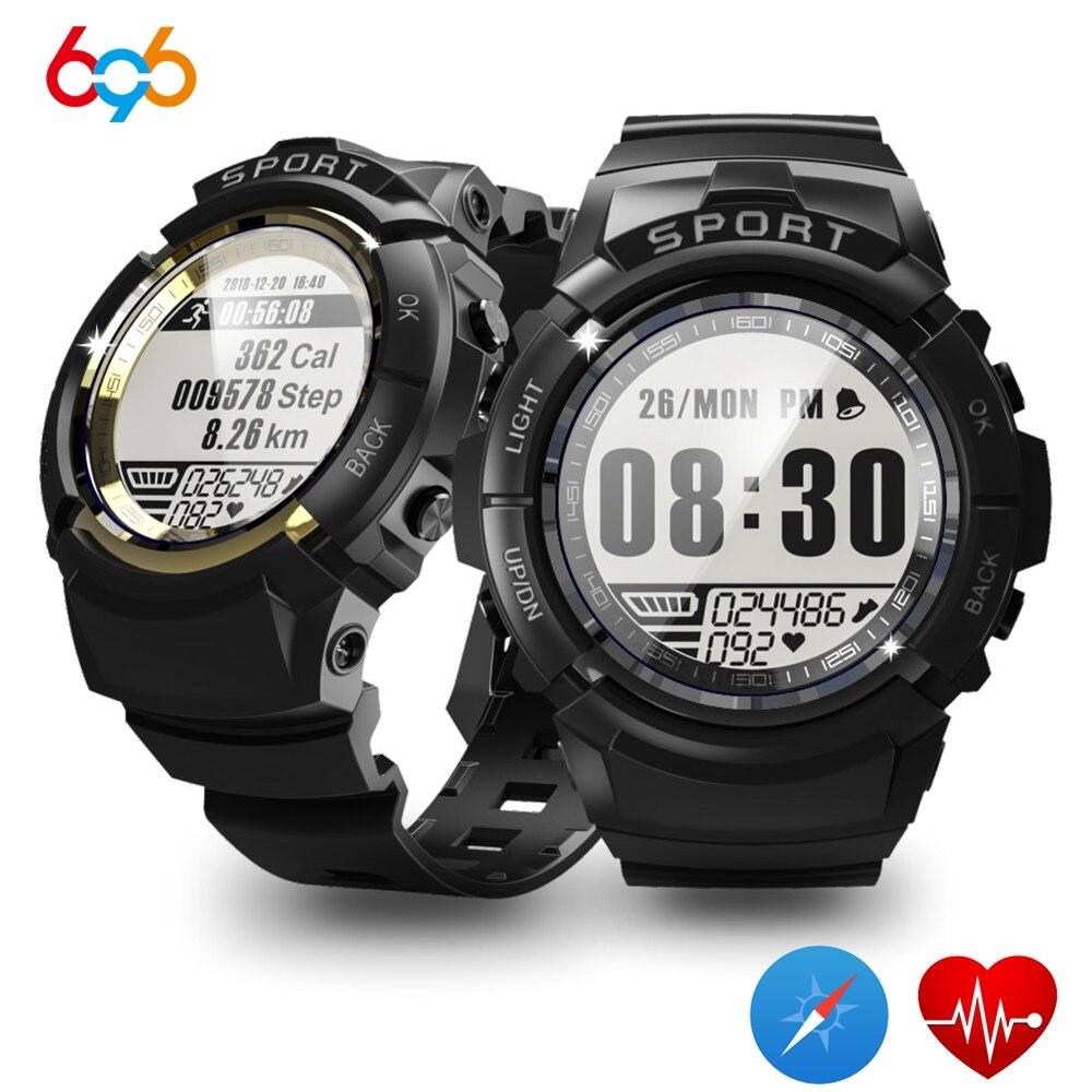 696 S816 hommes montre intelligente Fitness Tracker fréquence cardiaque boussole chronomètre réveil Sport IP68 étanche Smartwatch