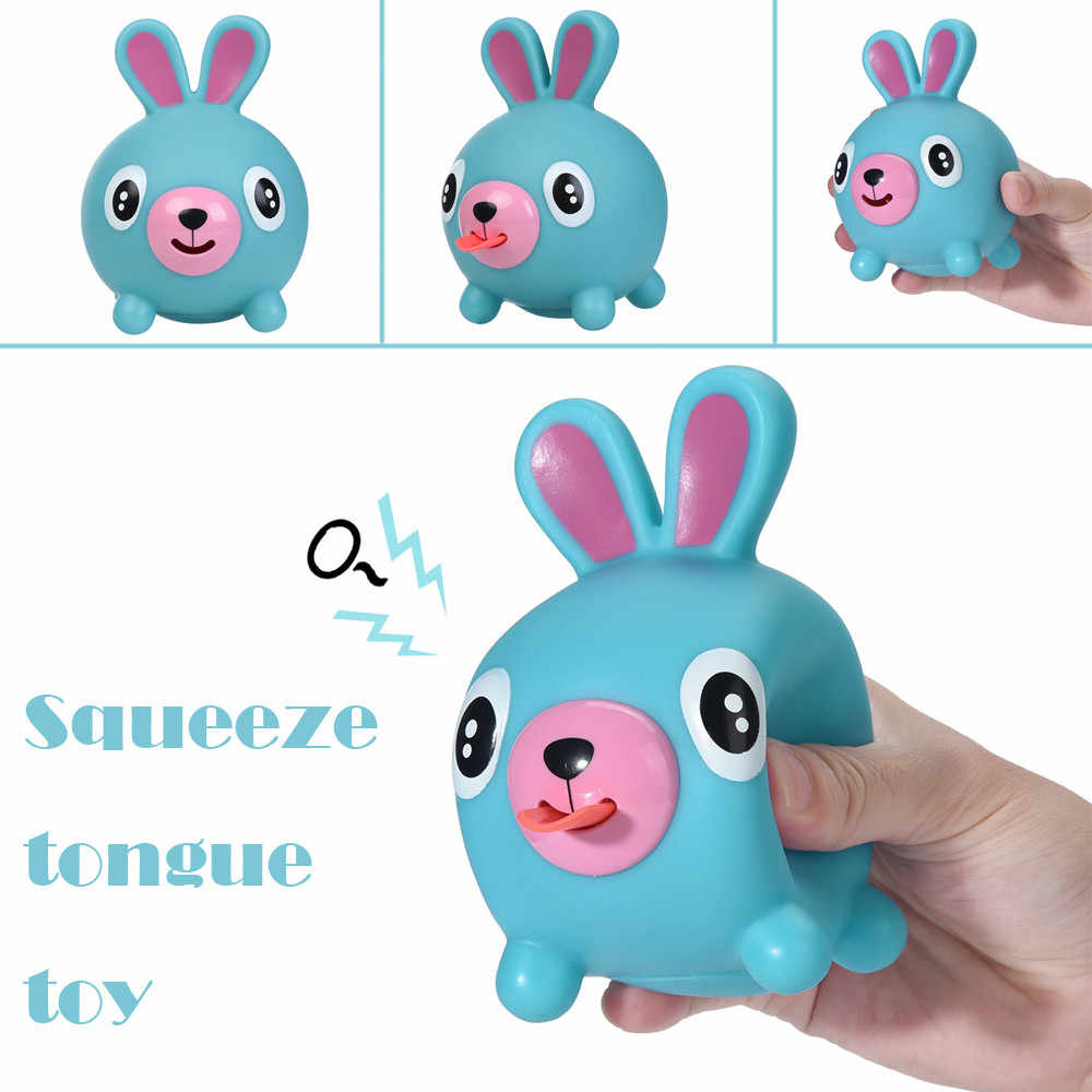 Cute  Decompression  toy Squeeze Stress Tongues Alternative Humorous Light Hearted Funny Toy skuishi animal